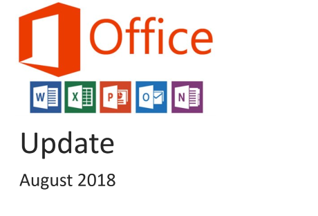 office 365 update august 2018