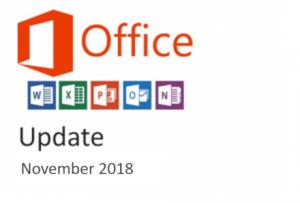 office update november 2018