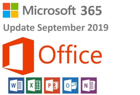 microsoft 365 update september 2019
