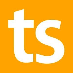 Logo: Fachmesse topsoft (quadratisch, «ts»)