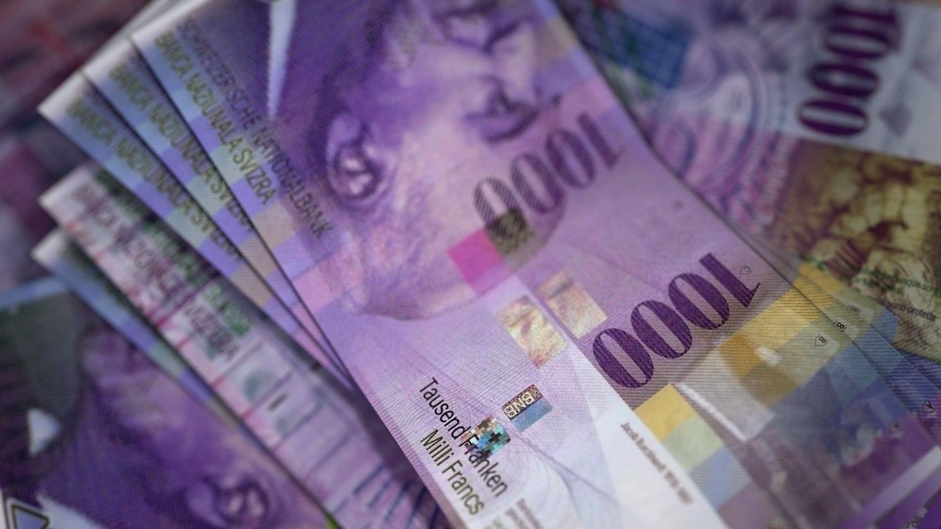 Foto: Zahlreiche 1'000-Franken-Banknoten