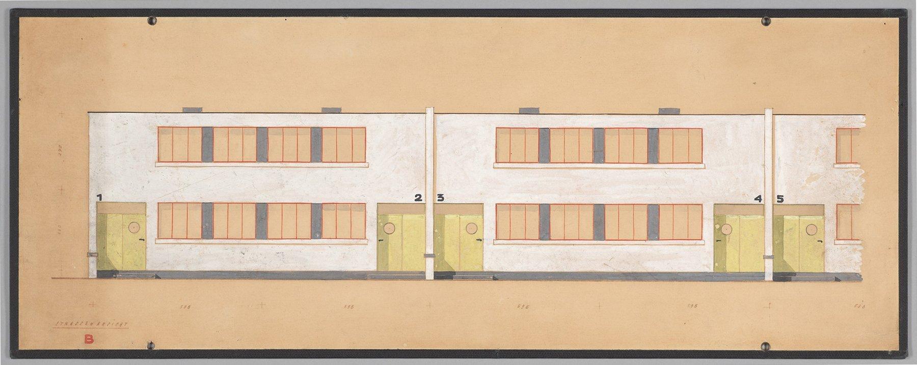 Farbkonzept Fassade Toerten, gelbe Türen