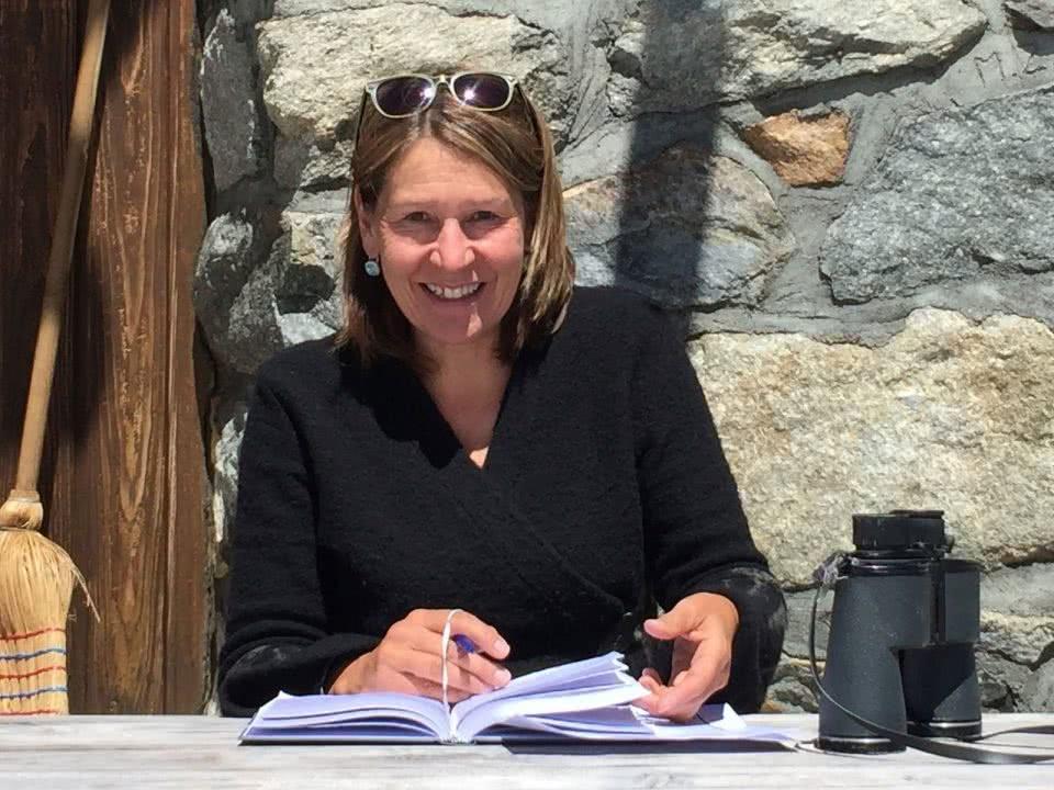Portrait der Hüttenwartin Manuela Fischer