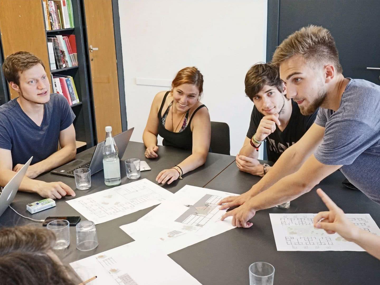 Sitzung der Projektgruppe Planung