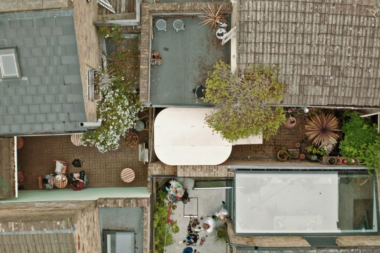 boano-prismontas Garten Haus Home Office Aufsicht Dach