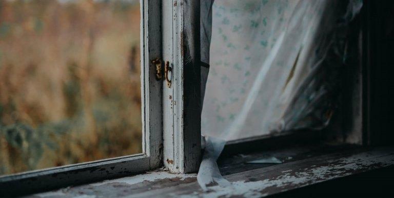 Fenster alt dreckig
