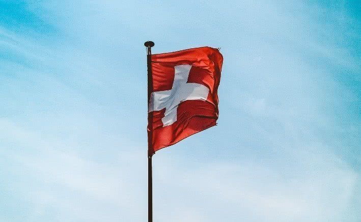 Einreise in die Schweiz - Schweizer Flagge