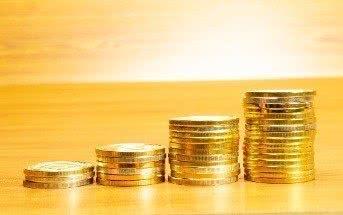 Stapel Geldmünzen