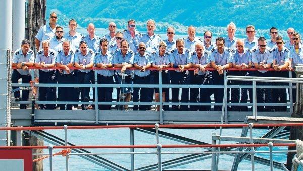 Matrosen an der Schifflände in Locarno