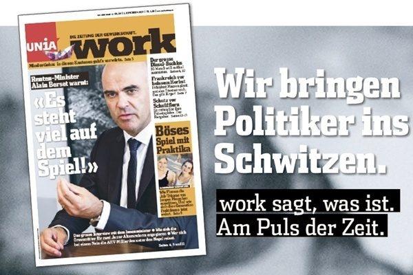 Wir bringen Politiker ins Schwitzen. work sagt, was ist. Am Puls der Zeit.